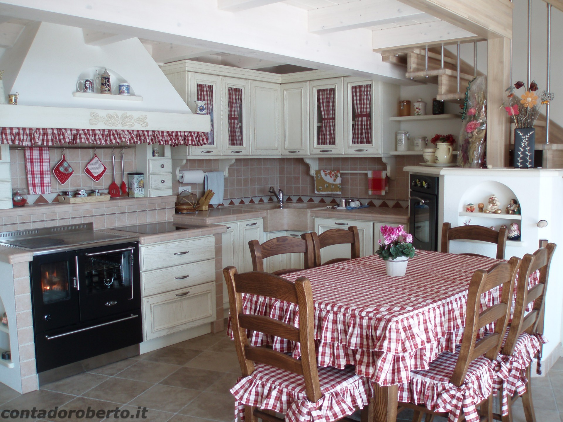 Forno Cucina In Muratura cucina in muratura sotto soppalco | contado roberto group